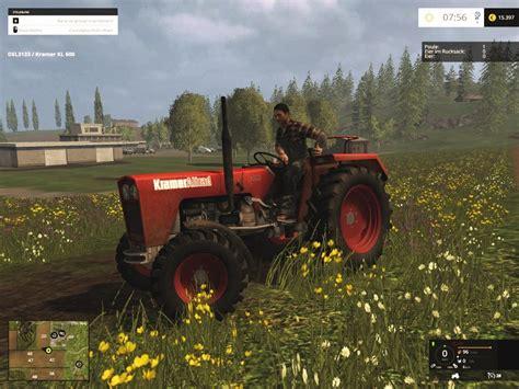 kramer kla red   tractor rot farming simulator