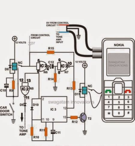 cell phone call alert security circuit circuit projects