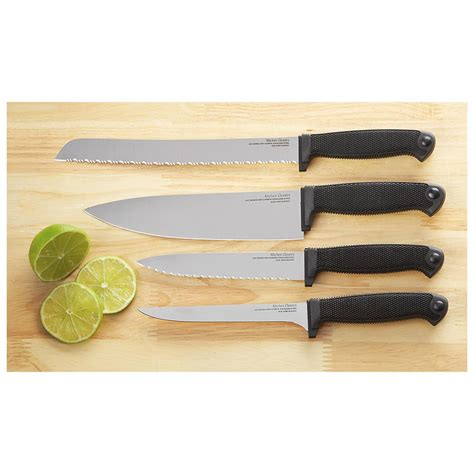 cold steel kitchen knives 4 pc cold steel kitchen knife combo 229434 kitchen knives at sportsman s guide