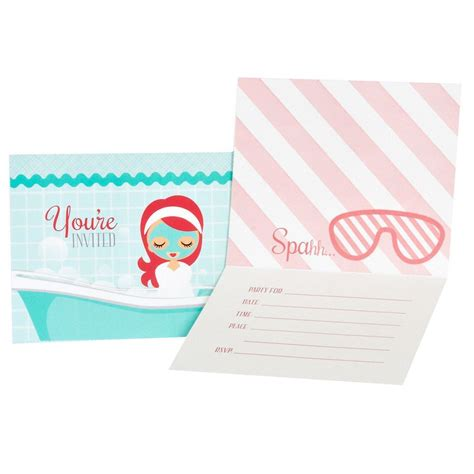 spa party invitations spa party spa party