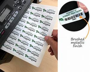 laser printable barcode label sheets for custom barcode labels With asset tag label printer