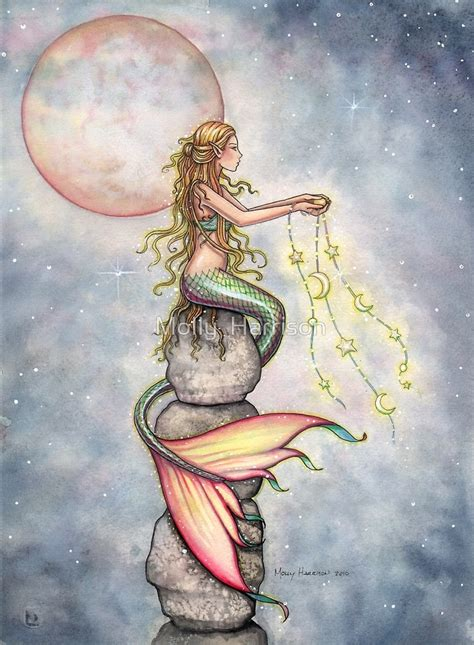 quot quot star filled sky quot mermaid art by molly harrison quot by molly harrison redbubble