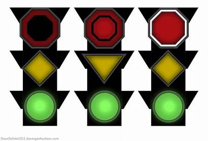 Traffic Animated Animation Colors Street Shapes Clipart