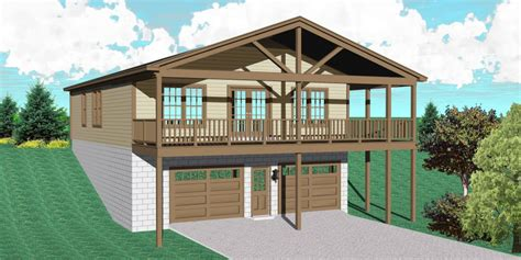 carriage house sloping lot sv architectural designs house plans