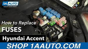 How To Check Fuses 07 Hyundai Accent