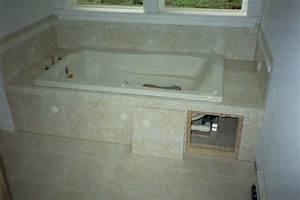 Access advice for a tiled bath panel ceramic tile advice for Tiled access panels bathroom