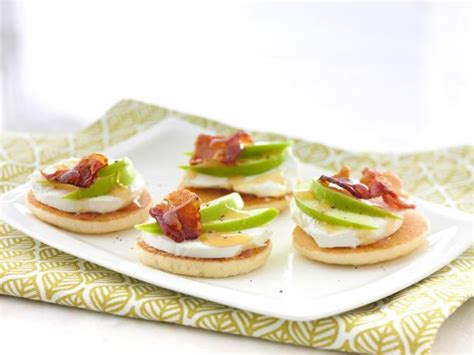 goats cheese canape recipes goat cheese apple and bacon canapes recipe food
