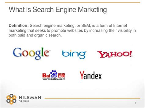 Seo Definition In Marketing by Search Engine Marketing 101
