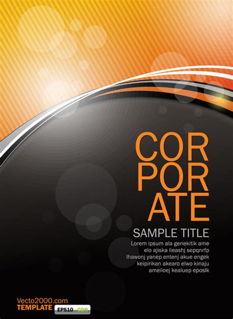 orange flyer template ai svg eps vector