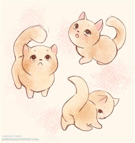 polar bears chibi cat drawings