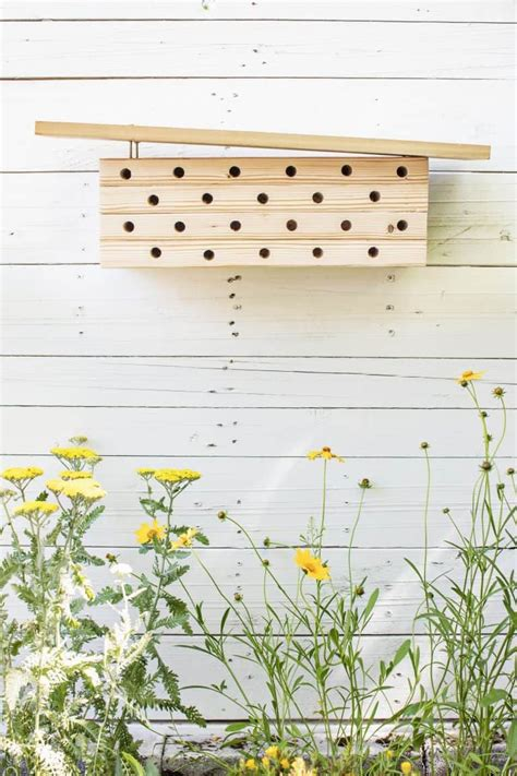 Modern Mason Bee House DIY Bee house Mason bees Garden