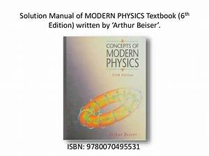 Modern physics Serway 3rd Solution