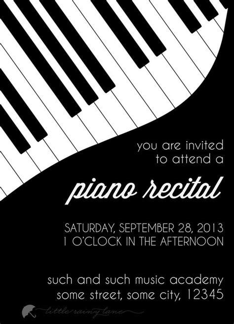 piano recital program template piano recital invitation custom