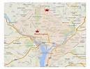 Location of intersections, Washington D.C. Map Data ...