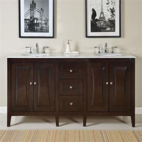 68 inch double sink vanity 68 inch modern double bathroom vanity with a carrara white