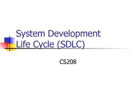 System Development Life Cycle (sdlc) Cs208