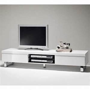 Meuble TV Blanc Laqu Serinahome Tendance Et Dco