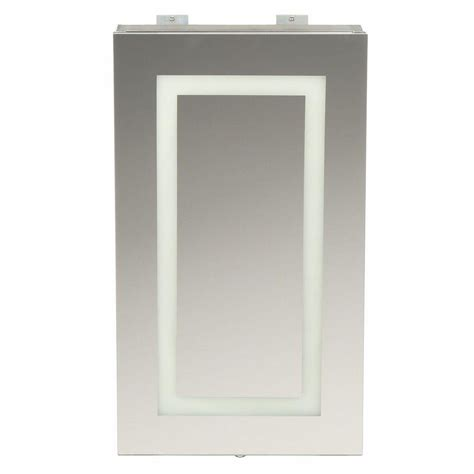 led medicine cabinet mirror glacier bay sp4627a medicine cabinet w led lighted mirror