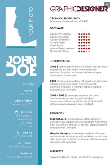 graphic designers single page resume creative resume