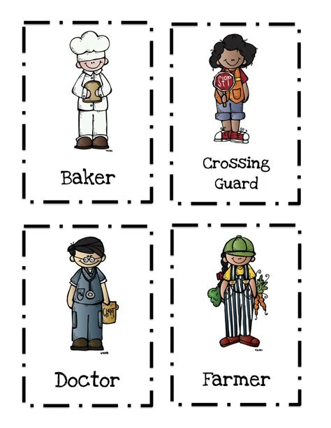 11541 community helpers pictures printables community helpers printable 2 preschool printables