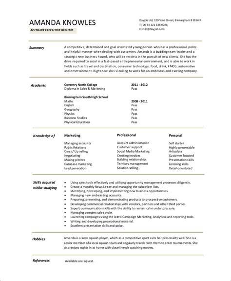 18210 account executive resume 8 sle executive resumes sle templates
