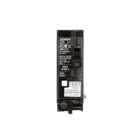 Siemens Amp Single Pole Type Qpf Gfci Circuit Breaker