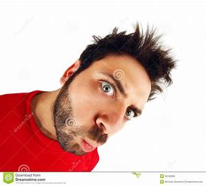 Wow Expression With Red T-shirt Stock Photography - Image ...