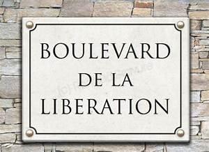 Plaque De Rue Personnalisée Extérieur : plaque de rue en pierre ~ Dode.kayakingforconservation.com Idées de Décoration