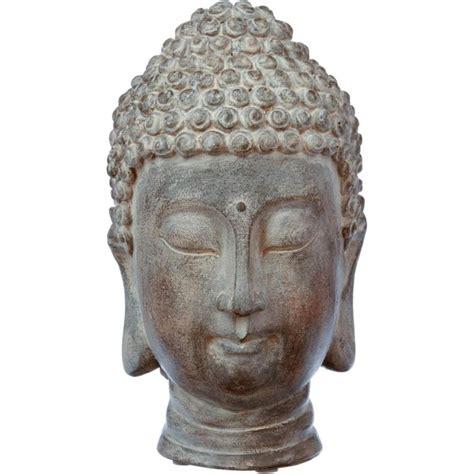Tête De Bouddha Résine 25cm Marron