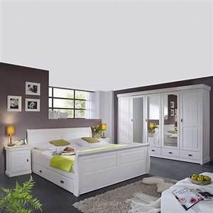 Schlafzimmer Komplett Weiß : komplett schlafzimmer im landhausstil janeira i ~ Orissabook.com Haus und Dekorationen