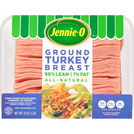 extra lean ground turkey nutrition information jennie