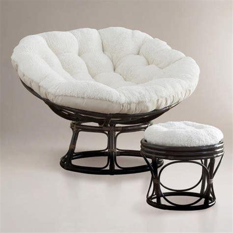 papasan chair cushions world market ivory faux fur papasan cushion world market