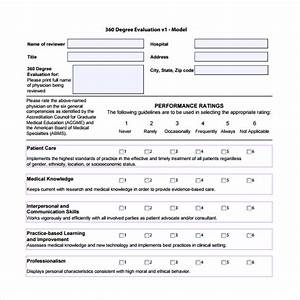 10 sample best 360 evaluation templates sample templates With 360 degree review template