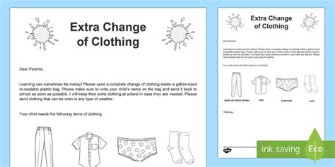 change of clothing parent letter for and spills change of clothing editable letter usa beginning of 86744