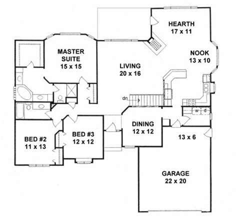 Floor Plans With Hearth Room by Plan 2082 3 Bedroom Ranch W Hearth Room And 3 Sided