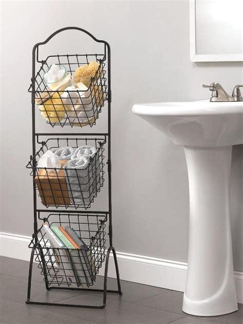 Wire Storage Basket Bins Shelving 3 Tier Rack Organizer