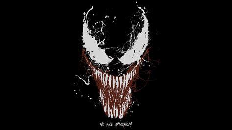 wallpaper venom marvel comics black hd  movies