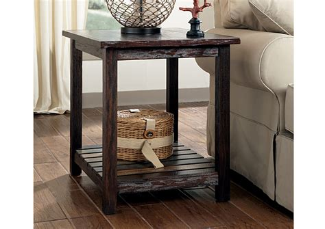 mestler chairside end table american furniture galleries mestler rectangular end table