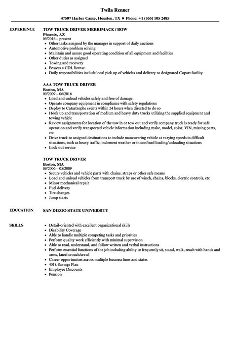 Duties Of A Truck Driver For Resume by 20 Car Driver Cv Sle Titleletter