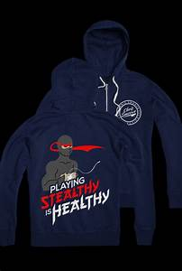 Stealthy is Healthy Zip Up (Navy) Outerwear - Chris Smoove ...