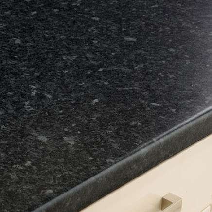 black granite effect worktop mm kitchen worktops