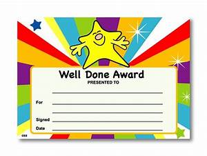 certificate well done award With well done certificate template