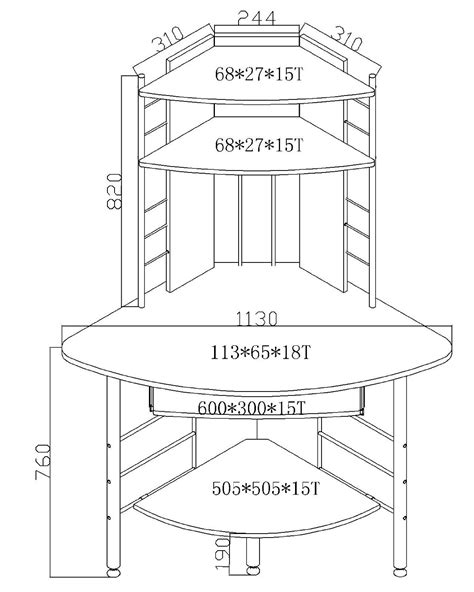 compact corner computer desk pc table home office