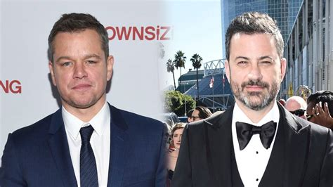 matt damon jimmy kimmel matt damon jimmy kimmel s rivalry endures at the world