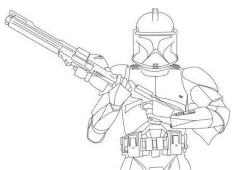 Clone Trooper Kleurplaat by Wars Coloring Pages Captain Rex Coloring