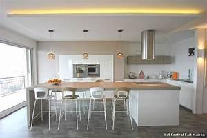 Ilot central fait maison with contemporain jardin for Ilot de cuisine fait maison