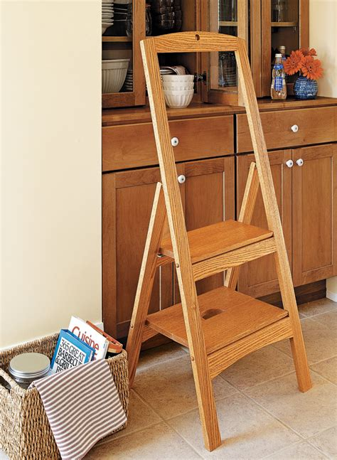 folding step stool woodworking project woodsmith plans