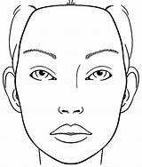 Face Makeup Blank Coloring Printable Charts Chart Eye Croqui Sketch Beauty Sketchite sketch template