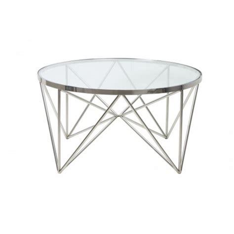 couchtisch rund silber glas metall tisch rund verchromt metall und glas durchmesser 80 cm