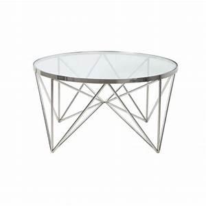 Tisch Glas Metall : couchtisch rund silber glas metall tisch rund verchromt metall und glas durchmesser 80 cm ~ Markanthonyermac.com Haus und Dekorationen